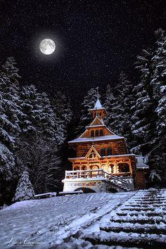 ***Log church in the forest (Zakopane, Poland) by Xenia Chowaniec