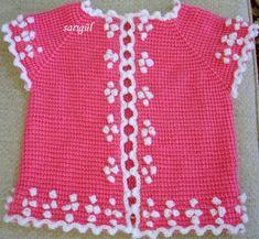 Very nice embellishments Crochet Baby Clothes Boy, Crochet Baby Cardigan, Crochet Vest Pattern, Baby Boy Knitting, Crochet Toddler, Crochet For Boys, Knit Crochet, Free Baby Patterns, Knitting Patterns Boys