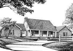 Looking for the best house plans? Check out the Just Right for Country plan from Southern Living. Southern Living House Plans, Country House Plans, Luxury House Plans, Best House Plans, Good House, Credit File, Luxury Homes, Floor Plans, Farmhouse