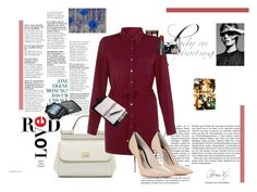 """""""#Longsleevedress"""" by alexandra1116 ❤ liked on Polyvore featuring Dolce&Gabbana, Yves Saint Laurent, Lancôme, Cameo Rose, Sophia Webster, Marc Jacobs and Folio"""