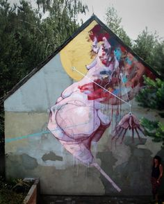 Sepe New Mural @ Krezel, Poland Street Wall Art, Urban Street Art, Murals Street Art, Best Street Art, Street Art Graffiti, Urban Art, Weird Art, Outdoor Art, Street Artists