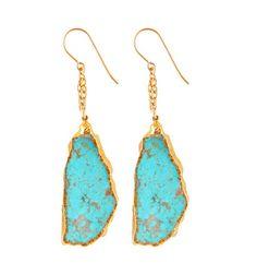 Double Chain Turquoise Earrings – Heather Gardner