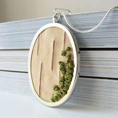 Birch bark and embroidery