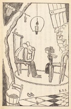 From a 1928 edition of Andersen's fairy tales, illustrated by Takeo Takei - 50 Watts