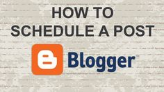How to Schedule a Post on Blogger  #video #tutorial #blog #blogger #youtube #post #blogging #google #BlogPost #blogtips