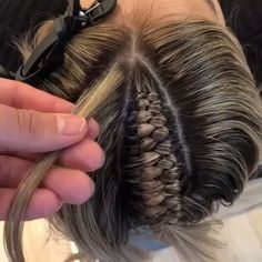 Half-up half-down infinity braid by Shayla Curly Hair Styles, Natural Hair Styles, Hair Upstyles, Natural Hair Tutorials, Box Braids Hairstyles, Soccer Hairstyles, Hairstyles 2018, School Hairstyles, Wedding Hairstyles
