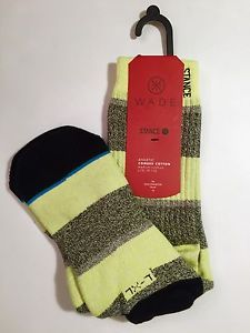 Mens Stance Wade Socks Athletic Medium Cushion Electric L XL Large Skate | eBay