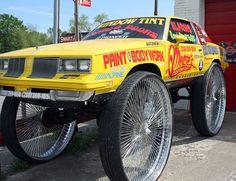 Crazy Cars, Weird Cars, Fancy Cars, Custom Sport Bikes, Custom Cars, Pimped Out Cars, Automobile, Donk Cars, Truck Rims