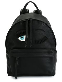 Black leather 'Flirting' backpack from Chiara Ferragni