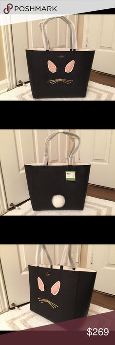 ❤Kate Spade Tote❤ 💯 Authentic Kate Spade Make Magic Rabbit Halloe❤Sooooo Cute❤Cutest Bag I Ever Seen❤OMG❤I Wanna Keep It❤$358 MSRP❤ kate spade Bags Totes