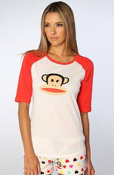 The Plush Sleep Raglan in Red by Paul Frank