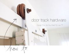Free tutorial on how to make your own sliding door hardware http://www.lynneknowlton.com/diy-door-track…-dbomb-dot-com/