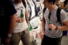 """Milano, 21 giugno 2012 - Reebok Classics e i Planet Funk hanno festeggiato la collaborazione nata ad aprile con un'eccezionale fuori programma del """"The Great Shake Tour"""". Alex Uhlmann, Marco Baroni e Alex Neri, si sono esibiti in uno speciale dj set a tre nel nuovo AW LAB flagship store di Milano, in Corso Buenos Aires 31."""