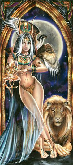 The Priestess by Fantasy Artist Ruth Thompson-Soden Fantasy Art Women, Beautiful Fantasy Art, Dark Fantasy Art, Fantasy Artwork, Egyptian Beauty, Egyptian Goddess, Meninas Comic Art, Image Princesse Disney, Fantasy Cross Stitch