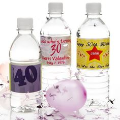 Personalized Birthday Party Bottled Water