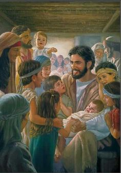 One of my favorite things about Jesus?  His love for children...and putting his apostles in their place for trying to stop the little ones!