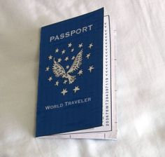 Pretend passport -- could modify for summer vacations?