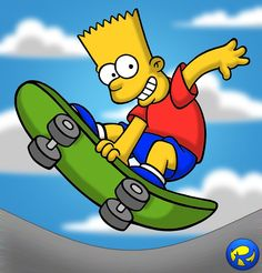 No, this time it isn't my favourite character. My favourite character in The Simpsons is Homer. But I like this character a lot. Cartoon Character Tattoos, Cartoon Characters, The Simpsons Guy, Bart And Lisa Simpson, Skate Bord, Mega Drive Games, Birthday Cartoon, Drawing Letters, Backgrounds