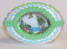 Photo Gallery of custom designed Large Panoramic Sugar Eggs handmade for you. Many examples of edible and decorative large homemade sugared eggs. Egg Photo, Sugar Eggs, Sugar Cubes, Sugar Craft, Easy Diy Crafts, Easter Eggs, Photo Galleries, Crochet Earrings, Custom Design