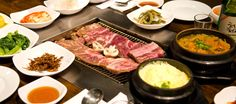 Here at New Wonjo, enjoy authentic Korean barbeque in the heart of the Korean town in New York City. Our famous BBQ and other dishes are featured on New York Times, Zagat, Michellin Guide and many other media. Best Korean Bbq, Korean Barbeque, Barbecue, Indian Food Recipes, Asian Recipes, Cantonese Food, Asian Soup, Nyc Restaurants, Hot Pot