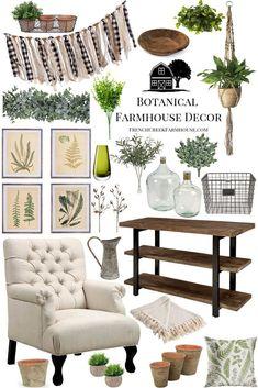 Cozy Farmhouse + Botanical Design Inspiration   French Creek Farmhouse