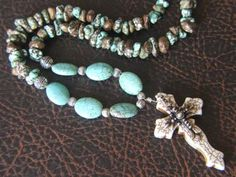Layered crosses and Southwestern beads
