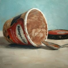 Indulgence, painting by artist Michael Naples modern still life/I like this one....