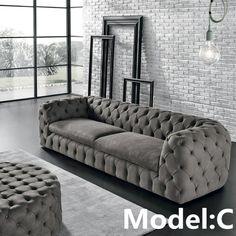 Shop Max Divani Autografo Leather Chesterfield Sofa At Living Furniture, Sofa Furniture, Luxury Furniture, Furniture Design, Leather Furniture, Furniture Outlet, Discount Furniture, Modern Furniture, Living Room Sofa Design