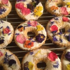 Edible flowers by Floating Petals Confetti on cookies by dyc551 on Etsy.