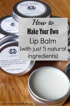 Make your own lip balm with just 5 natural ingredients! This nourishing lip balm will soften your lips without melting in your purse on hot days.