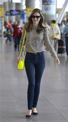 Miranda Kerr con su look aeropuerto