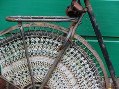 Crocheted skirt guard