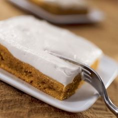 Super-Easy Pumpkin Squares for those of us who haven't quite mastered pie crust. :-)