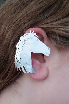 Sterling Silver Horse Earcuff by NinaRaizel on Etsy, $221.00