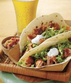 Spicy Beer Marinated Salmon Tacos