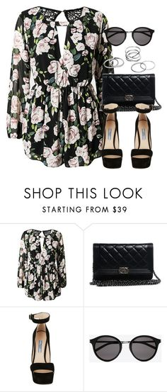"""Style #10444"" by vany-alvarado ❤ liked on Polyvore featuring Chanel, Prada and Yves Saint Laurent"