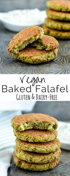 Healthy Gluten-free Baked Falafel! The perfect quick & easy meatless dinner option! Plus they're freezer-friendly and vegan!