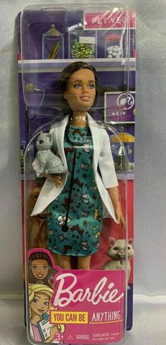 Barbie Doll You Can Be Anything Pet Vet Doll with Cat #Mattel #DollswithClothingAccessories