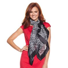 Fall means time for scarves!!! Something I love!!  Pair a printed scarf with a bright solid top and a nice blazer or jacket! #HSN #FallFashion