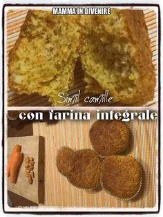 Simil+camille+con+farina+integrale,+una+sana+merenda+per+i+nostri+figli. Mamma, Banana Bread, Desserts, Food, Tailgate Desserts, Deserts, Eten, Postres, Dessert