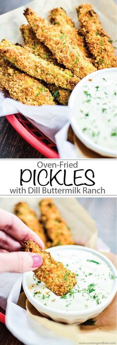 Oven-Fried Pickles with Homemade Dill Buttermilk Ranch