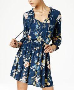 American Rag Printed Ruffled Peasant Dress, Only at Macy's