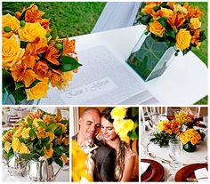 Flores amarelas para um lindo casamento na fazenda - Casamento Karin Cruz e Jefferson Lerio