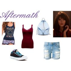 Aftermath by emma-frost-98 on Polyvore featuring Lipsy, Current/Elliott, Converse, Rebecca Minkoff and supernatural
