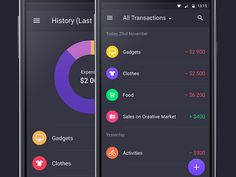 Walle Finance App Android [History Month & All Transactions] by Alexander Zaytsev