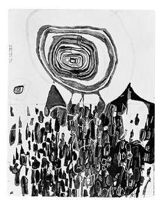Hundertwasser - Der Berg und die Sonne