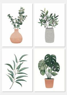 floral illustration – Best Garden Plants And Planting Plant Painting, Plant Drawing, Plant Art, Illustration Blume, Botanical Illustration, Plant Sketches, Afrique Art, Art Decor, Decoration