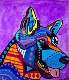 German Shepherd by HeatherGallerArt on Etsy, $24.00