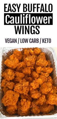 Keto Crispy Baked Buffalo Cauliflower Wings - Keto Vegetarian - Ideas of Keto Vegetarian - Keto and low carb cauliflower buffalo wings recipe easy to make and super healthy and filling. Youd never guess its not loaded with fat! Vegan Dinner Recipes, Vegan Dinners, Vegan Recipes Easy, Low Carb Recipes, Vegan Ideas, Vegetarian Low Carb Meals, Vegetarian Wings, Plant Based Dinner Recipes, Health Food Recipes