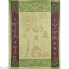Huile D'Olive Vert Olive Oil French Kitchen Towel s for The Pierre Deux Cook | eBay